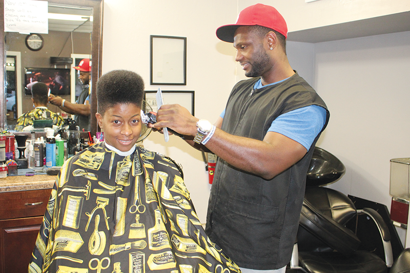 Haircuts for the homeless before the holidays