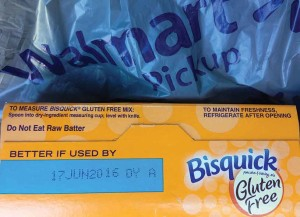Bisquick Gluten Free Mix that expired June 17, 2016, was purchased October 19, 2016