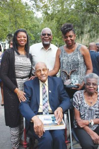 Rogers pictured here with family at the second annual City of St. Petersburg Veterans Day Celebration on Nov. 11, 2015.