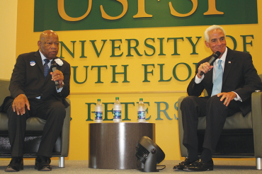 Rep. John Lewis in town campaigning for Crist