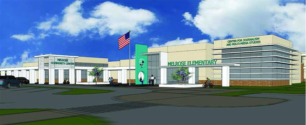 Rendering, New Melrose Elementary