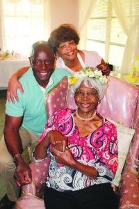 John and Pamela Footman celebrate their mother's 90th birthday