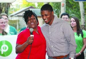 Keyona Thompson and Warrick Dunn