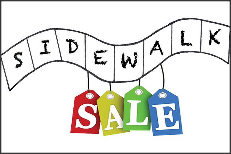 sidewalk sale, Reader's Choice, community