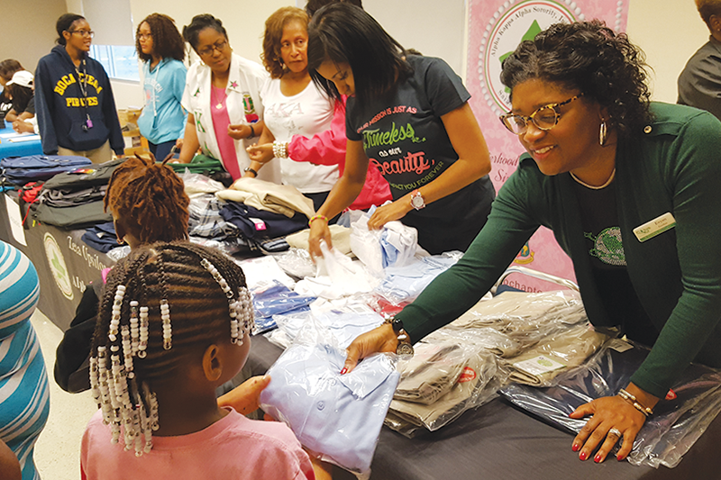 Alpha Kappa Alpha sorority donates school uniforms to help students