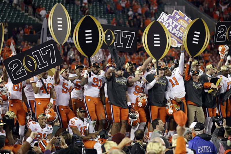 Clemson are national champs: Tigers defeat Alabama in last minute shock victory
