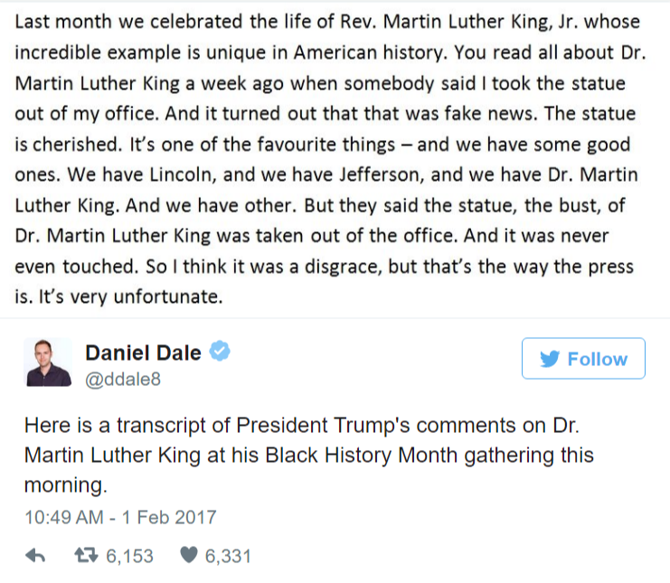 Trump used a Black History Month speech to talk about himself how he did with black voters and CNN Vox