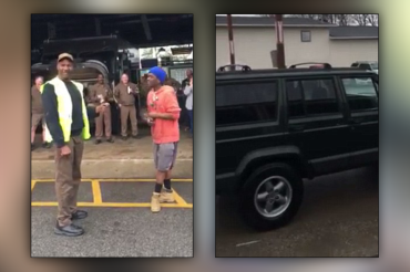 UPS worker surprises teen colleague with Jeep after watching him walk to, from work supporting sick mom