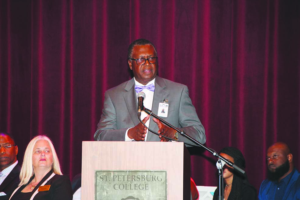 Dr. Brinson at the Dr. Mac J. Williams Sr. awards ceremony last week