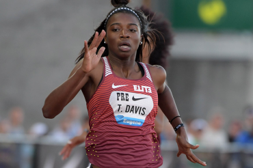 At 14, sprinter Tamari Davis is already eyeing 2020 Olympics