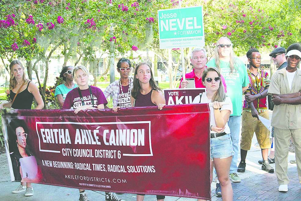 Nevel Canion Reparations Rally, featured