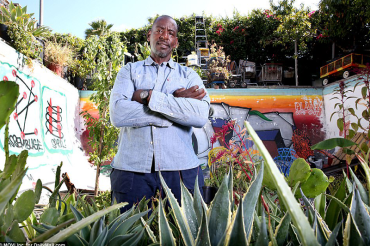 The real OG (Organic Gardener) of South Central LA: Former clothing designer trying to end 'food slavery'