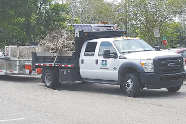 Storm debris pickup