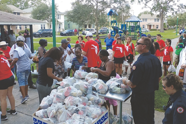 Food relief offered to the community at Jordan Park Apartments