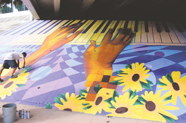 Underpass project brightens the Deuces gateway