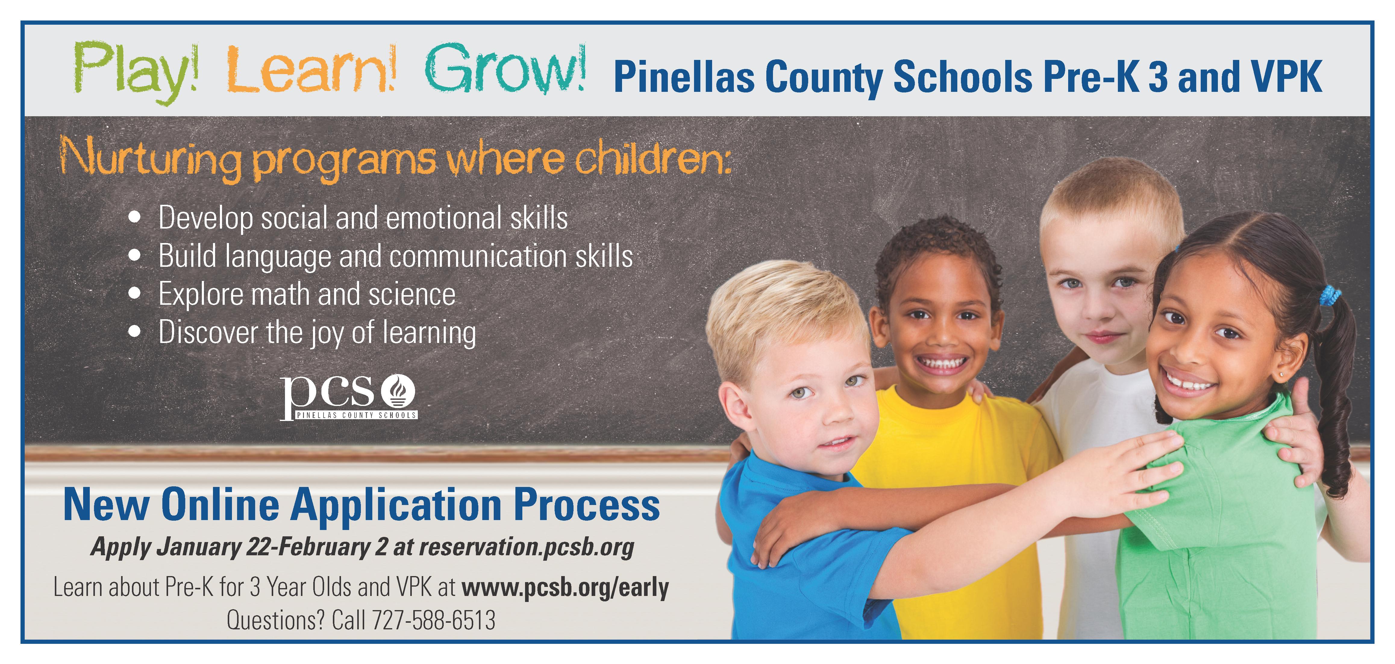VPK, Pinellas Schools, featured, educsation