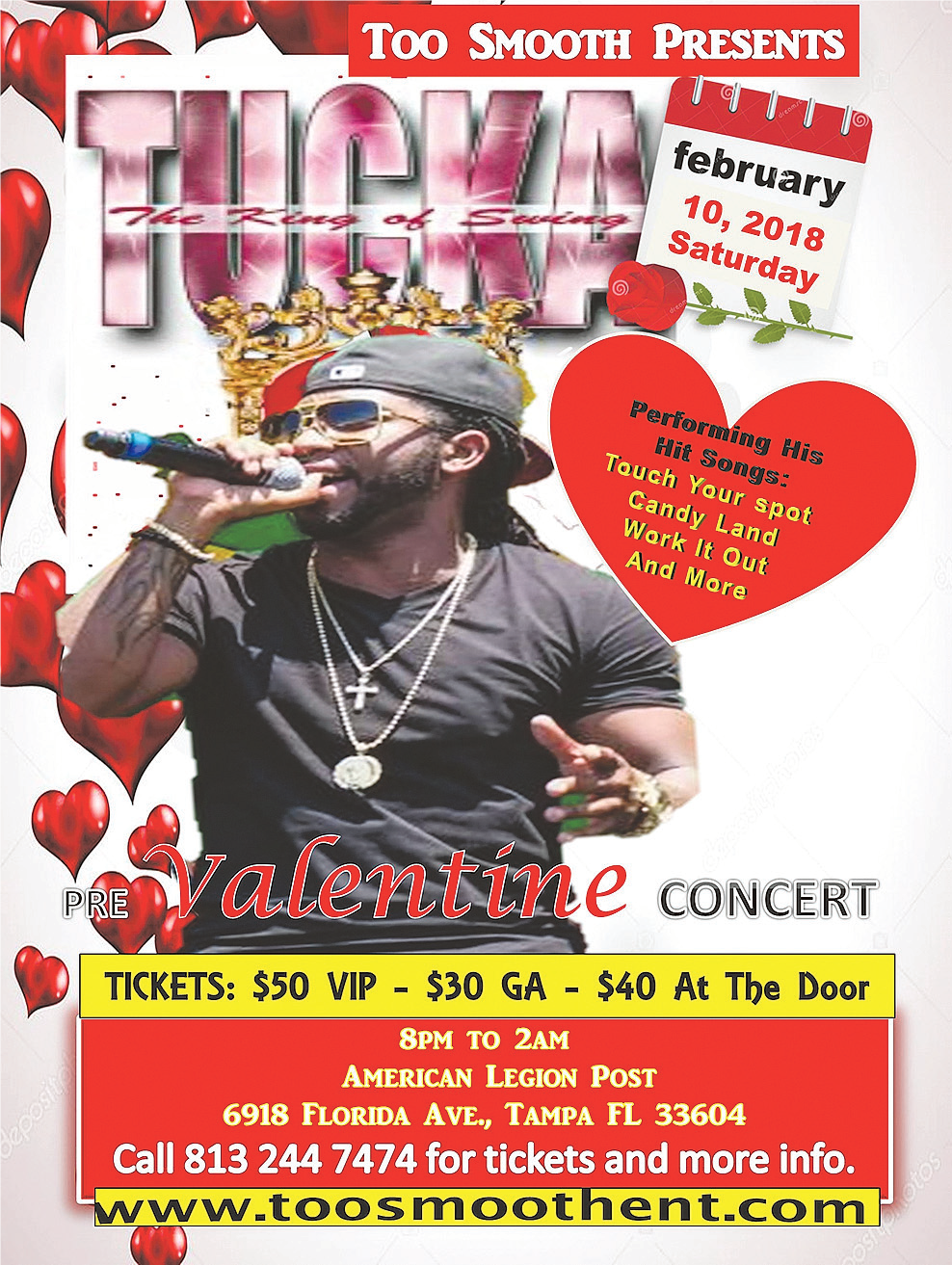 Tucka Flyer, featured, Valentines Day