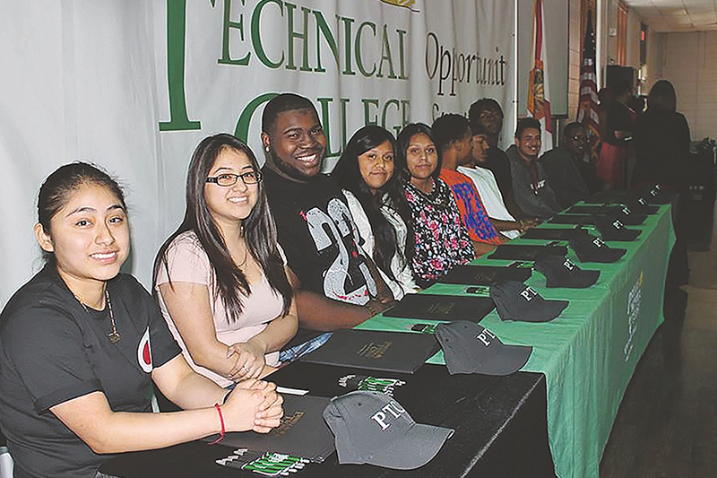 High School seniors participate in National Technical College Signing Day at PTC