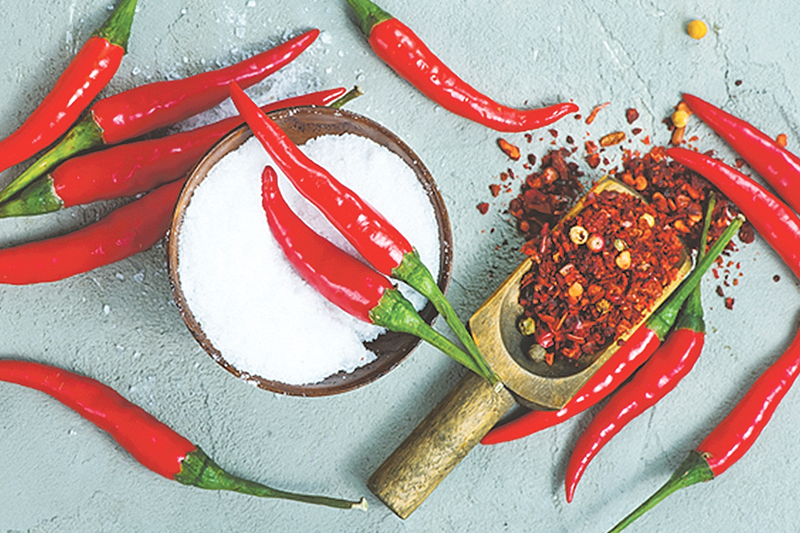 Spicy foods may heighten our perception of salt