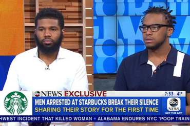 Black men arrested at Starbucks break their silence about confusion and anger following 'racist' incident