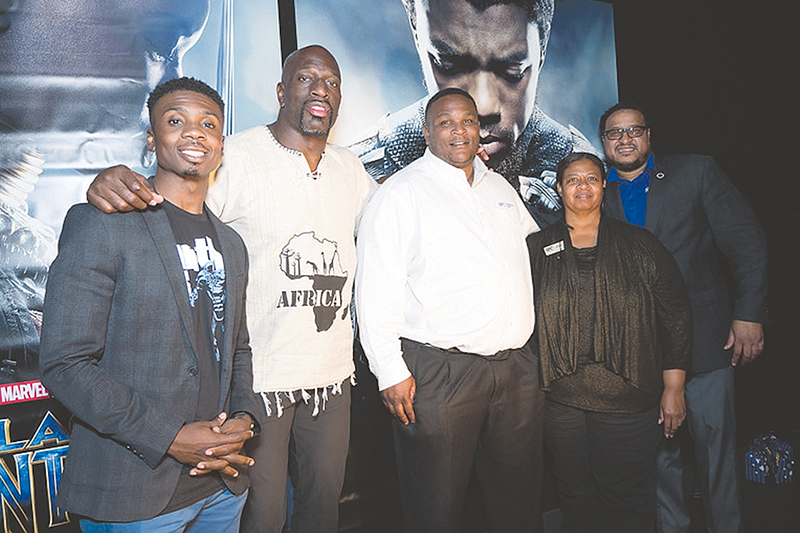 WWE Wrestler takes SPC Mac J. Williams award recipients to see 'Black Panther'