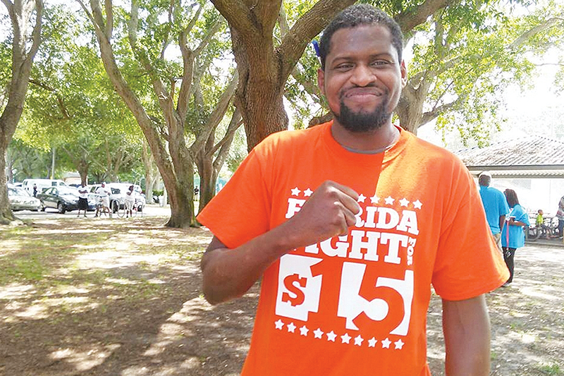 Activist Kofi Hunt encourages people to 'get on the bus' for Campaign for Living Wages