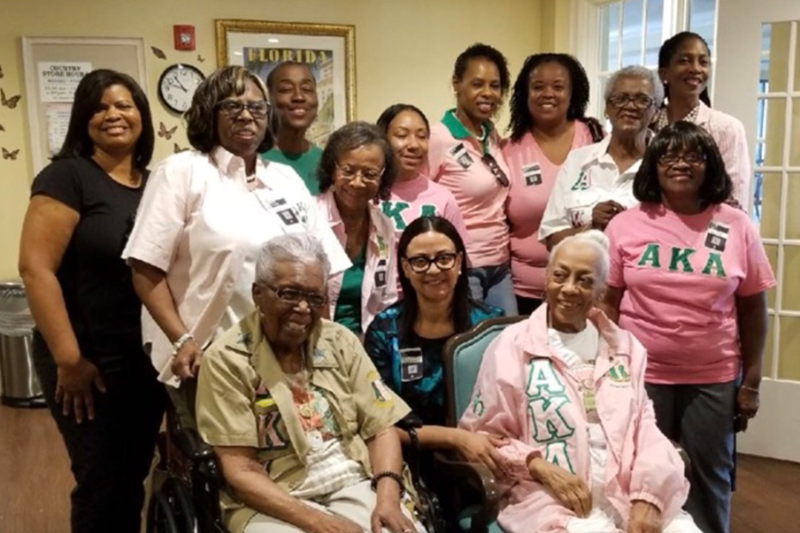 Alpha Kappa Alpha Sorority bring awareness to Alzheimer's