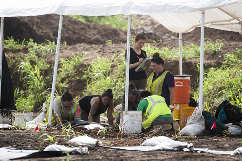 Jim Crow era unmarked cemetery is unearthed containing the remains of 95 black forced-labor prisoners