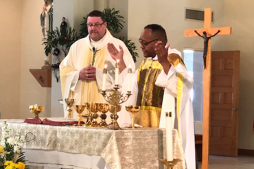 Father Brown installed as the new pastor of St. Joseph Catholic Church