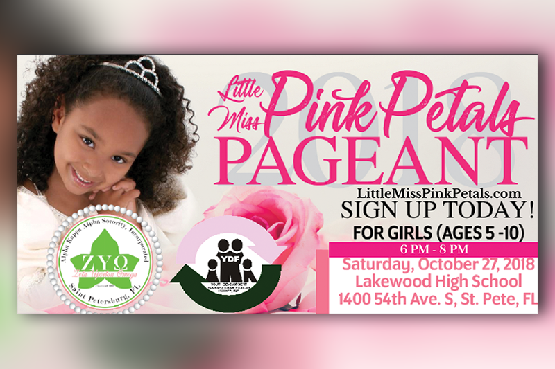 Alpha Kappa Alpha Sorority to host 2018 Little Miss Pink Petals Pageant