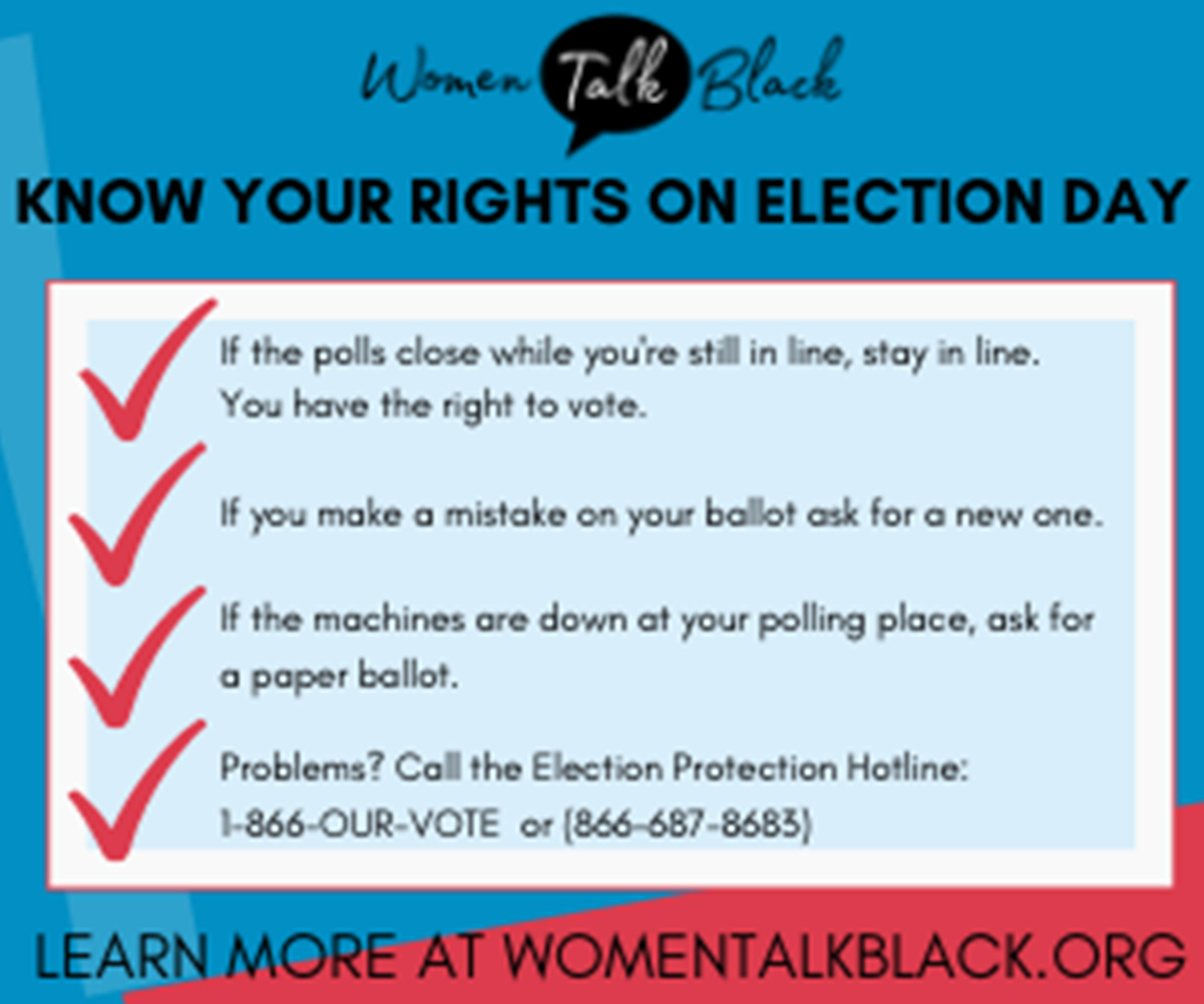 Women Talk Black - Election Day: Your Rights