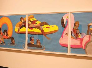Derrick Adams' artworks showcase 'Black Joy' at the MFA