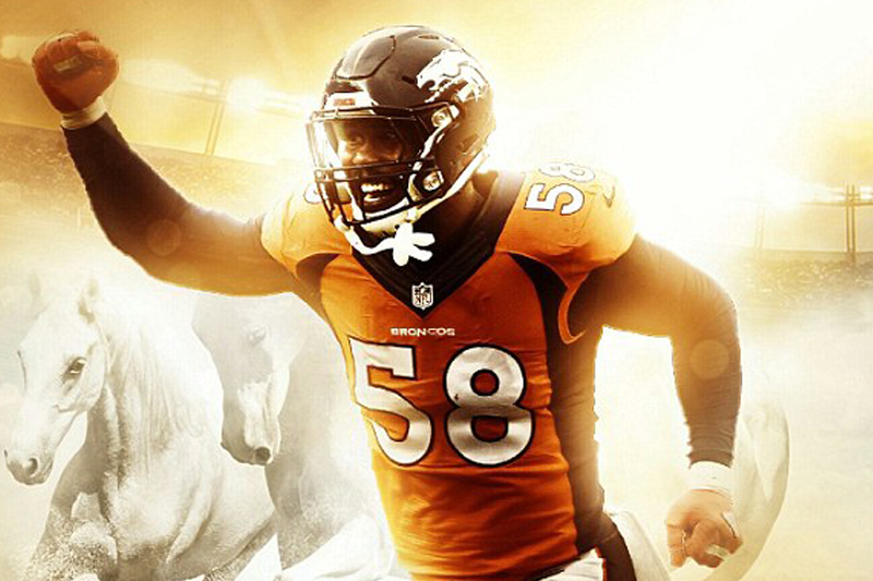 7445ca3558c Denver Broncos star Von Miller signs record-breaking $114.5million contract  with team