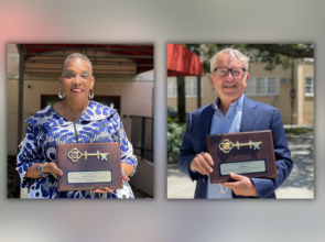 Reese and Wilson receive keys to the city